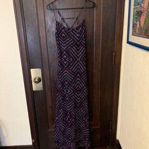 Love. Fire  Purple, pattern sheer dress
